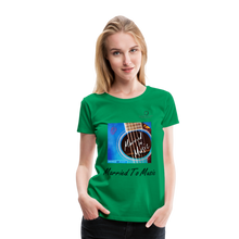 "Load image into Gallery viewer, Women DJ's Dream Logo - ""Married To Music"" Blue Guitar Women's Premium T-Shirt - kelly green"