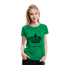 "Load image into Gallery viewer, Women DJ's Dream Logo - ""Married To Music"" Queen 01 Women's Premium  T-Shirt - kelly green"