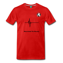 "Load image into Gallery viewer, Premier DJ E-Luv Logo - ""Married To Music"" Signature Men's Premium T-Shirt - red"