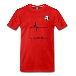 "Premier DJ E-Luv Logo - ""Married To Music"" Signature Men's Premium T-Shirt - red"