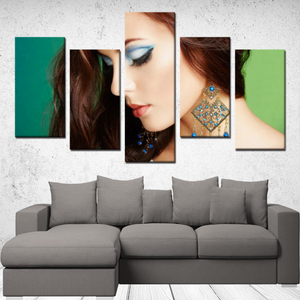 "P.M. - ""Perfect Makeup"" Line - (Finally Flawless) 5 Panels Canvas Wall Art"