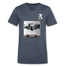 "Load image into Gallery viewer, Premier DJ E-Luv Logo - ""Wreck Da Decks"" Wall Art - Men's V-Neck T-Shirt by Canvas - heather navy"