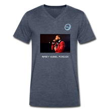 "Load image into Gallery viewer, N.L. ""Nipsey Hussle Forever"" - Premium Men's V-Neck T-Shirt by Canvas - heather navy"