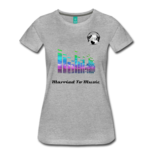 "Premier DJ E-Luv Logo - ""Married To Music"" EQ. Slant Women's Premium T-Shirt - heather gray"