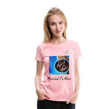 "Load image into Gallery viewer, Women DJ's Dream Logo - ""Married To Music"" Blue Guitar Women's Premium T-Shirt - pink"