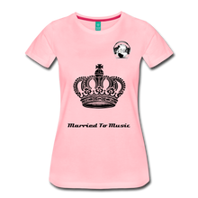 "Load image into Gallery viewer, Premier DJ E-Luv Logo - ""Married To Music"" Queen Crown Women's Premium T-Shirt - pink"