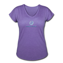 "Load image into Gallery viewer, Next Level *Official ""Queen Level"" - Women's Tri-Blend V-Neck T-Shirt - purple heather"