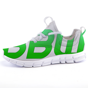 """Beautiful Black Women"" Line - Women's *Breathable Fluorescent Green Sports Sneakers"
