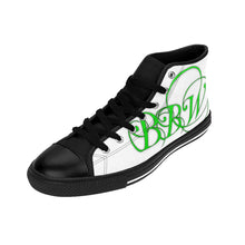 "Load image into Gallery viewer, BBW - ""Beautiful Black Women"" Line - Fluorescent Green Logo Custom Women's High-Top Sneakers"