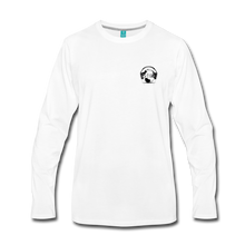 Load image into Gallery viewer, Premier DJ E-Luv Logo - Men's Premium Long Sleeve T-Shirt - white