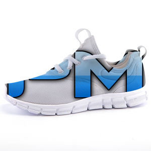 "P.M. - ""Perfect Makeup"" Line - Women's Lightweight *Breathable Baby Blue Two-Tone Casual Sports Sneakers"