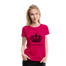 "Load image into Gallery viewer, Women DJ's Dream Logo - ""Married To Music"" Queen 01 Women's Premium T-Shirt - dark pink"