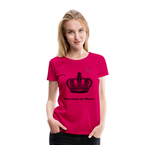 "Women DJ's Dream Logo - ""Married To Music"" Queen 01 Women's Premium T-Shirt - dark pink"