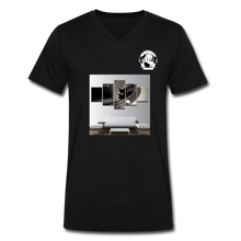 Load image into Gallery viewer, Premier DJ E-Luv Logo - Turntable Wall Art - Men's V-Neck T-Shirt by Canvas - black