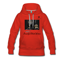 "Load image into Gallery viewer, ""Beautiful Black Women"" Line - (Dark & Elegant) Women's Soft Premium Hoodie - red"