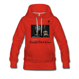 """Beautiful Black Women"" Line - (Dark & Elegant) Women's Soft Premium Hoodie - red"
