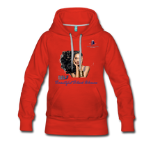 "Load image into Gallery viewer, ""Beautiful Black Women"" Line - (Inviting) Women's Premium Soft Hoodie - red"