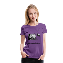 "Load image into Gallery viewer, Women DJ's Dream Logo - ""Married To Music"" Iconic Madonna Women's Premium T-Shirt - purple"