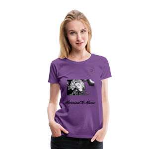 "Women DJ's Dream Logo - ""Married To Music"" Iconic Madonna Women's Premium T-Shirt - purple"