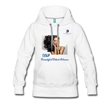 "Load image into Gallery viewer, ""Beautiful Black Women"" Line - (Inviting) Women's Premium Soft Hoodie - white"