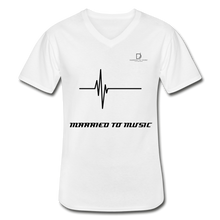 Load image into Gallery viewer, DJ's Dream Attire Logo - Married To Music Line Men's V-Neck T-Shirt - white
