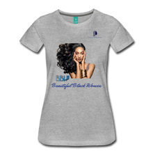 "Load image into Gallery viewer, ""Beautiful Black Women"" Line - (Inviting) Soft Premium Cotton T-Shirt - heather gray"