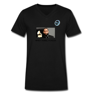 "N.L. ""Nipsey Hussle Forever"" At The Grammy's - Men's V-Neck T-Shirt by Canvas - black"