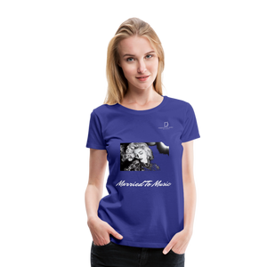 "Women DJ's Dream Logo - ""Married To Music"" Iconic Madonna Women's Premium Black T-Shirt - royal blue"