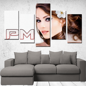 "P.M. - ""Perfect Makeup"" Line - (The Boyfriend) 5 Panels Canvas Wall Art"