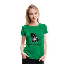 "Load image into Gallery viewer, Women DJ's Dream Logo - ""Married To Music"" Girl-Art Women's Premium Organic T-Shirt - kelly green"