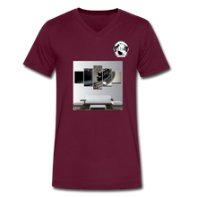 Load image into Gallery viewer, Premier DJ E-Luv Logo - Turntable Wall Art - Men's V-Neck T-Shirt by Canvas - maroon