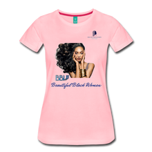 "Load image into Gallery viewer, ""Beautiful Black Women"" Line - (Inviting) Soft Premium Cotton T-Shirt - pink"