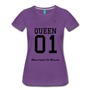 "Women DJ's Dream Logo - ""Married To Music"" Queen 01 Women's Premium T-Shirt - purple"