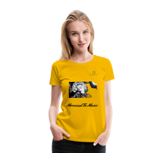 "Load image into Gallery viewer, Women DJ's Dream Logo - ""Married To Music"" Iconic Madonna Women's Premium T-Shirt - sun yellow"