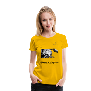 "Women DJ's Dream Logo - ""Married To Music"" Iconic Madonna Women's Premium T-Shirt - sun yellow"