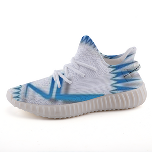 Next Level Logo - Custom Design - Men's Low-Cut *Breathable Baby Blue Casual Sneakers