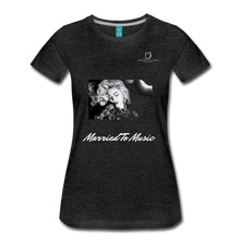 "Load image into Gallery viewer, Women DJ's Dream Logo - ""Married To Music"" Iconic Madonna Women's Premium Black T-Shirt - charcoal gray"