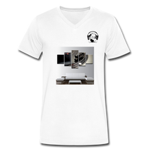Load image into Gallery viewer, Premier DJ E-Luv Logo - Turntable Wall Art - Men's V-Neck T-Shirt by Canvas - white