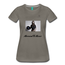 "Load image into Gallery viewer, Women DJ's Dream Logo - ""Married To Music"" Female DJ & Vinyl Women's Premium T-Shirt - asphalt gray"