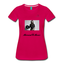 "Load image into Gallery viewer, Women DJ's Dream Logo - ""Married To Music"" Female DJ & Vinyl Women's Premium T-Shirt - dark pink"