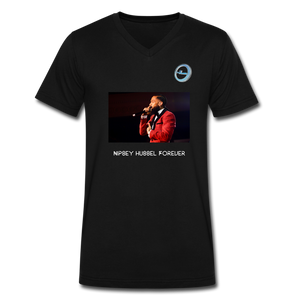 "N.L. ""Nipsey Hussle Forever"" - Premium Men's V-Neck T-Shirt by Canvas - black"