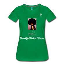 "Load image into Gallery viewer, ""Beautiful Black Women"" Line - (Classic Afro) Soft Premium T-Shirt - kelly green"