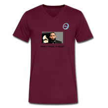 "Load image into Gallery viewer, N.L. ""Nipsey Hussle Forever"" At The Grammy's - Men's V-Neck T-Shirt by Canvas - maroon"