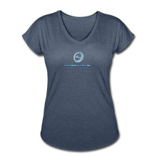 "Load image into Gallery viewer, Next Level *Official ""Queen Level"" - Women's Tri-Blend V-Neck T-Shirt - navy heather"