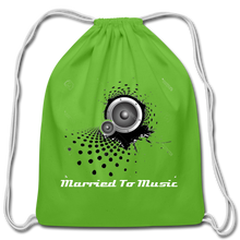 "Load image into Gallery viewer, ""Married To Music"" Line - Cotton Light-Blue Drawstring Bag - clover"