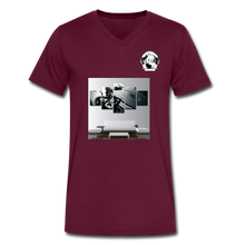 "Load image into Gallery viewer, Premier DJ E-Luv Logo - ""Wreck Da Decks"" Wall Art - Men's V-Neck T-Shirt by Canvas - maroon"