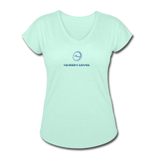 "Load image into Gallery viewer, Next Level *Official ""Queen Level"" - Women's Tri-Blend V-Neck T-Shirt - mint"
