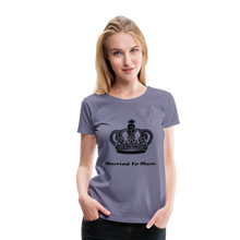 "Load image into Gallery viewer, Women DJ's Dream Logo - ""Married To Music"" Queen 01 Women's Premium T-Shirt - washed violet"
