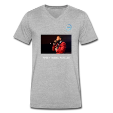 "Load image into Gallery viewer, N.L. ""Nipsey Hussle Forever"" - Premium Men's V-Neck T-Shirt by Canvas - heather gray"