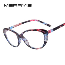 Load image into Gallery viewer, MERRY'S Women Fashion Cat Eye Glasses Complete With Print Frame & Clear Stylish Lens